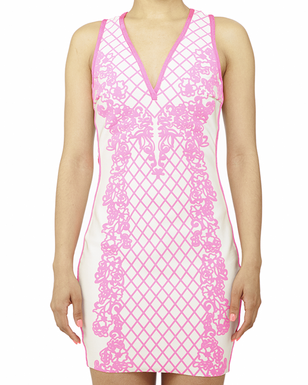 Mirage Baroque Bandage Dress at FLYJANE