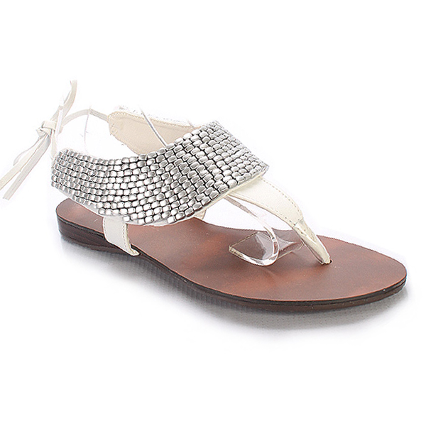MILO BEADED THONG SANDALS