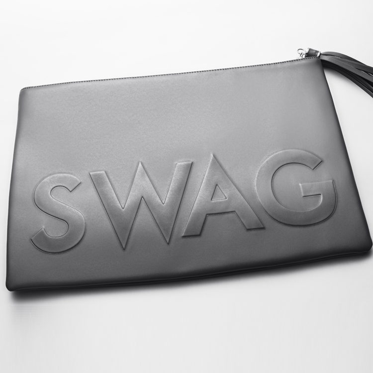 I GOT HOT SAUCE IN MY BAG SWAG! Oversized Clutch Bag in Black | FLYJANE | Swag Bag in Black | Black Oversized Embossed Clutch Bag | Cute Embossed Clutch