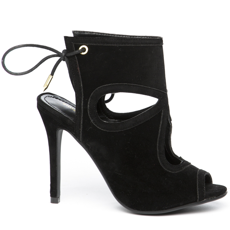 GRETCHEN Tear Drop Booties in Black at FLYJANE | Designer Tear Drop Bootie | Black Booties under $50 | Shoe Republic LA |