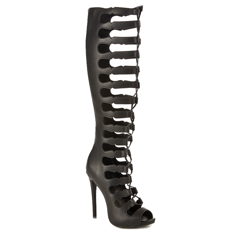 Zigi Soho MARY BETH Gladiator Sandals in Black at FLYJANE