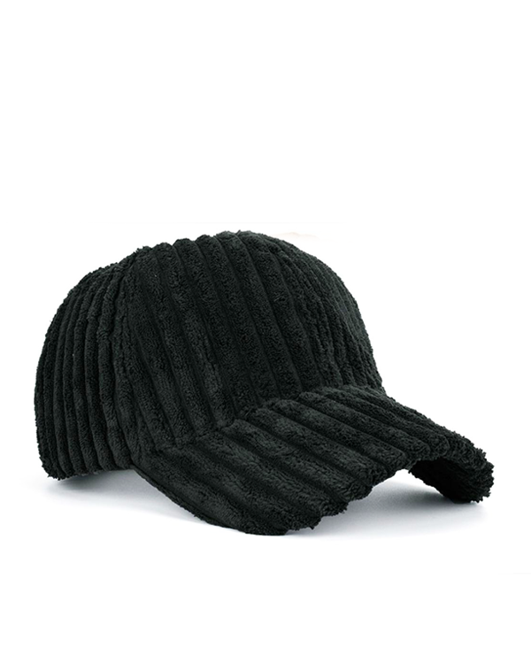 DARCI Corduroy Cap in Black at FLYJANE | Cute Cozy Corduroy Baseball Caps for Loungewear or Bad Hair Days Cap | Shop Cute Accessories at FLYJANE