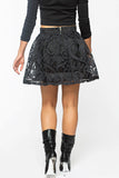 BARELY SEINE Mesh Skater Skirt available Now at FLYJANE