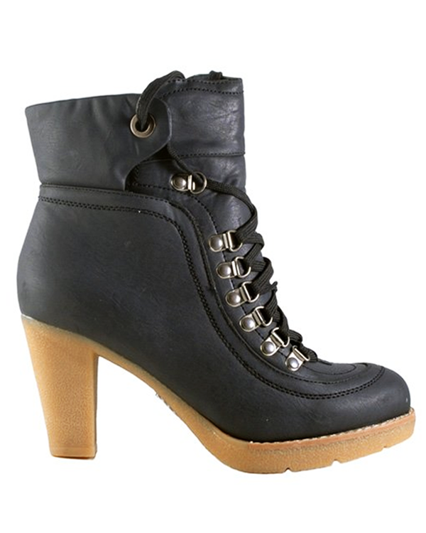 CAMILA Ankle Boots in Black | FLYJANE | Cute Low Heel Rubber Sole Mountain Boots for Women | Fashionable Granny Boots | Cute Granola Boots for Women at ShopFlyJane.com