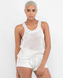 CAMILLA Cable Knit Short Set at FLYJANE | Creme Cable Knit Shorts for Fall | Cute with Tights and a Blazer