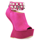 Chinese Laundry CAN CAN Heelless Platform Bootie in Pink at ShopFlyJane.com