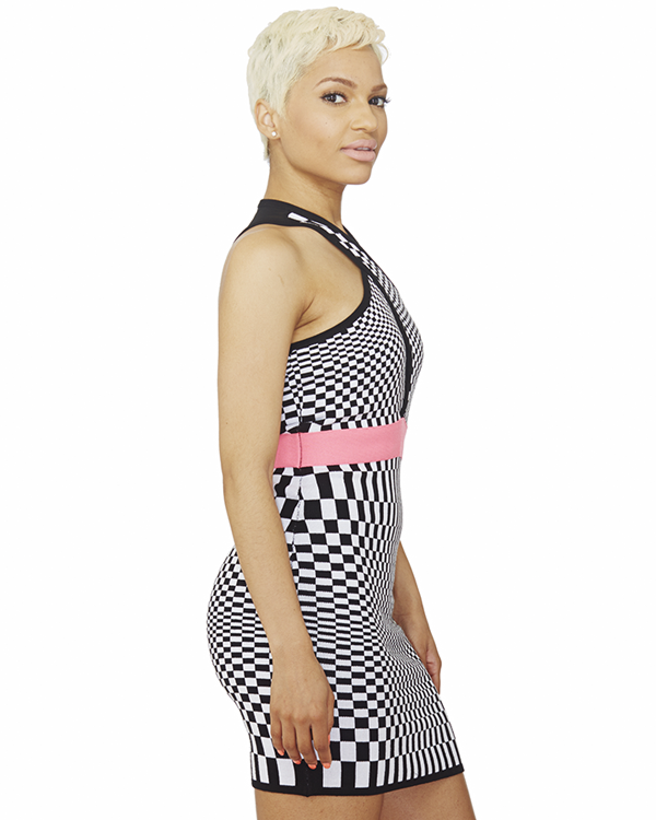 FAST LANE BODY CON DRESS