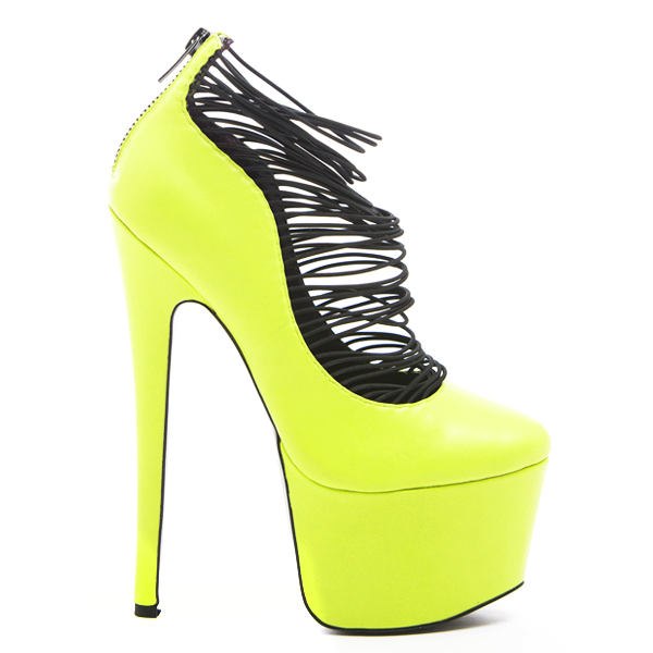 LONDON TRASH CERES PLATFORM PUMP - YELLOW