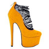 London Trash CERES Platform Pump in Orange Pony at ShopFlyJane.com