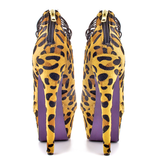 London Trash CERES Platform Pump in Leopard Pony at shopFlyJane.com