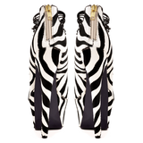 London Trash CERES Platform Pump in Zebra Pony at ShopFlyJane.com