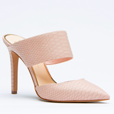 Jessica Simpson CHANDRA Mule in Dusty Rose Crocodile Leather at FLYJANE