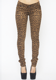 TRIPP NYC CHEETAH STRETCH SUEDE DENIM JEANS AT FLYJANE