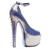 LONDON TRASH CITRO PLATFORM PUMP - BLUE
