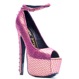 LONDON TRASH CITRO PLATFORM PUMP - FUCHSIA