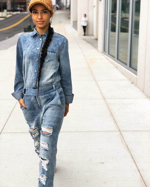 THE CLASSIC Utility Denim Jumpsuit | FLYJANE | Denim Jumpsuit | Boyfriend Jeans | Cute Denim Jumpsuit