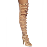 Jeffrey Campbell ENABLE HI Gladiator Boot in Blonde Leather at FLYJANE