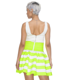 ELLE Pleated Bandage Skater Skirt at FLYJANE