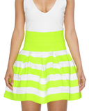 ELLE PLEATED BANDAGE SKATER SKIRT