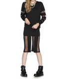 Blurred Lines Skirt in Black at FLYJANE