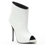 Lust for Life FAME Bootie in White Leather at FLYJANE