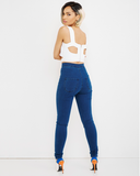 HOLLYWOOD BLVD HIGH WAIST STRETCH DENIM PANT