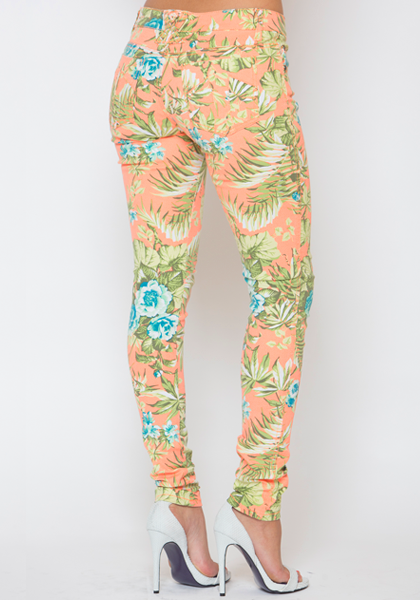 TROPIC THUNDER SKINNY JEAN - ORANGE