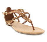 FORTE Studded Thong Sandals in Tan at FLYJANE | Cute Thong Sandals | Tan Studded Sandals | Tan Sandals | Thong Sandals | Open Toe Sandals | Cute Sandals under $25 | Shop FLYJANE on Instagram