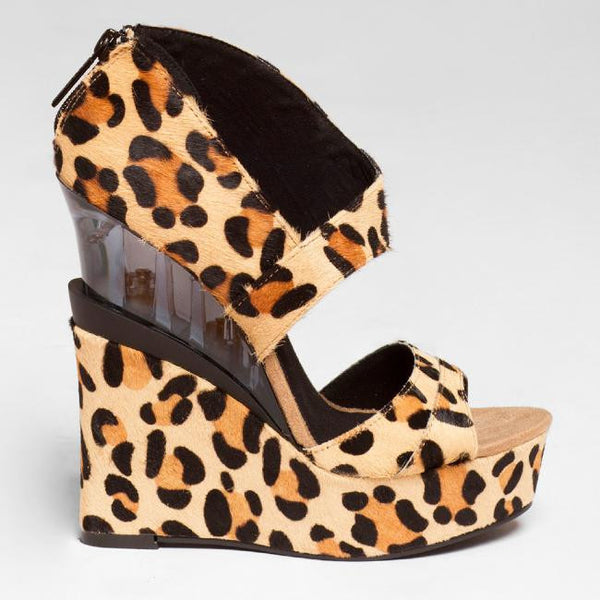 Michael Antonio Studio Gallagher Wedge in Leopard at FLYJANE