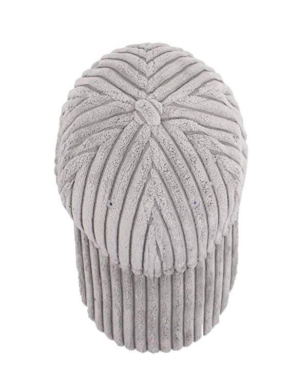 DARCI Corduroy Cap in Grey at FLYJANE | Cute Cozy Corduroy Baseball Caps for Loungewear or Bad Hair Days Cap | Shop Cute Accessories at FLYJANE