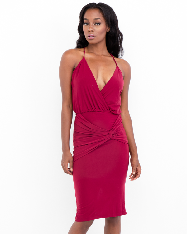 HARVEST MOON Cocktail Dress in Burgundy at FLYJANE | Burgundy Cocktail Dress | Cute Bodycon Dresses under $50 | Fall Fashion at FLYJANE | Cute Dresses under $50