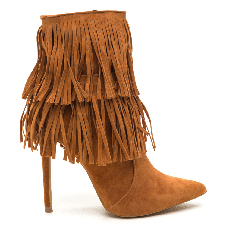 FULL SWING FRINGE BOOTIE - TAN