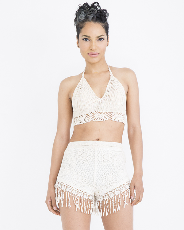INDIO VIBES CROCHET SHORT SET