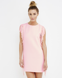 JILLIE MACARON Fringe Shift Dress in Pink at FLYJANE | English Factory | Cute Shift Dresses | Pink Dresses | Party Dress