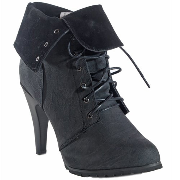 New JOIE Distressed Utility Bootie by FLYJANE.. Think Distressed Look with a short heel.  Rugged Platform Ankle Booties | Faux Suede Distressed Booties | Black Rugged Platform Boots | Super cute for FALL | Fall Fashion 2018