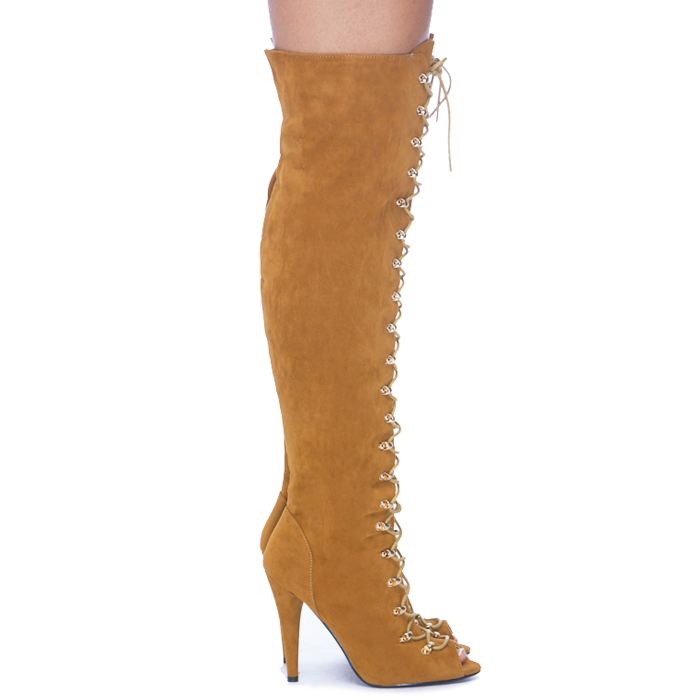 JUDY Knee Boot in Tan at FLYJANE (  Liliana BOHO-10 Boot )