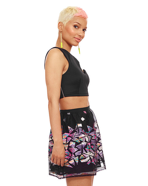 COSMIC TRIANGLE Skater Skirt at FLYJANE