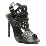 ISOUL Studded Gladiator Sandals in Black at FLYJANE | The best selection of Schutz Lust for Life Steve Madden, Jeffrey Campbell and all things Dope! | FLYJANE