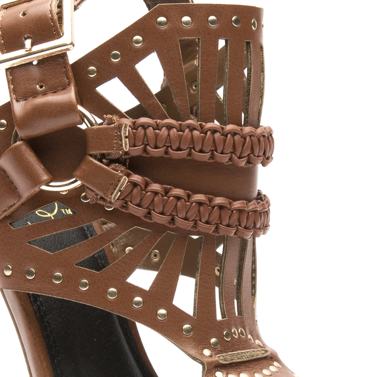ISOUL Studded Gladiator Sandals in Cognac at FLYJANE | The best selection of Schutz Lust for Life Steve Madden, Jeffrey Campbell and all things Dope! | FLYJANE