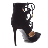 FOXXI Lace Up Bootie in Black at FLYJANE