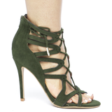 KEFANI Olive Green Cutout Lace Up Open Toe Heel at FLYJANE | Cute Shoes under $50 | Olive Green Heels | Open Toe Sandals | Fashion Heels for Summer 16