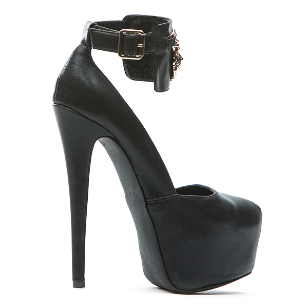 Penny Sue KING Platform Pump in Black at FLYJANE