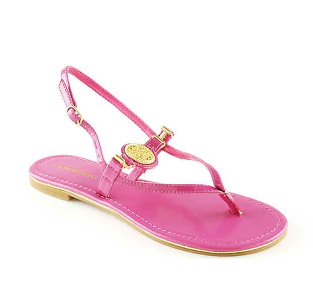 NYLIE Thong Sandals in Pink at FLYJANE | Pink Thong Sandals | Pink Flats | Pink Sandals | Cheap Sandals | Sandals under $25