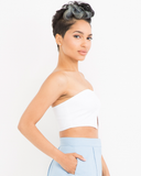 LOVE TO LOVE YA Bustier Top in White at FLYJANE | White Bustier Top | Pleated Bustier Top | White Crop Top | White Crop Top