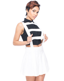 Endless Rose THE LADDERS Caged Skirt in White at FLYJANE
