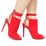 HARLO Peep Toe Bootie in Red at FLYJANE | Red Peep Toe Bootie | Cute Shoes under $50 | Follow us on Instagram at @FlyJane