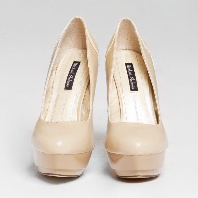 Michael Antonio LEANNE Platform Pump in Beige | FLYJANE | Beige Platform Pump in Beige | Fashion Pumps under $50 | Michael Antonio Heels at ShopFlyJane.com