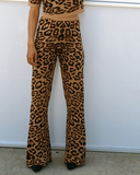 FEELING CATTY Leopard Flare Pants Set at FLYJANE | Leopard Knit Sweater Pants Set | Leopard Flare Pants and Matching Crop Top | New Arrivals at ShopFlyJane.com