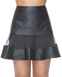 BORDERLINE Flare Skirt at FLYJANE