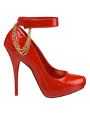 LONNIE Snakeprint Hidden Platform Pump in Red | FLYJANE | Fashion Pumps under $50 | Snake Print Pumps | Red Patent Pumps | Michael Antonio Pumps | Michael Antonio Shoes | Sexy Shoes at FLYJANE